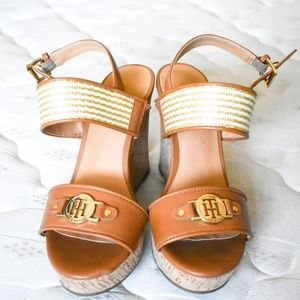 Tommy Hilfiger Wedges Wedge Heels Tan